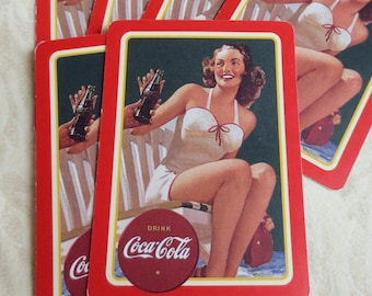 6 Woman in Bathing Suit Pinup Coca Cola Playing Cards