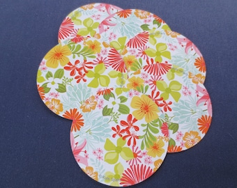 6 Floral Round Playing Cards, Kate Spain