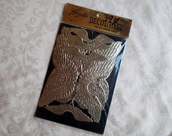 Angel Wings, Gold Paper Vintage Hazel's Decoupage Supplies in Original Package, New Old Stock
