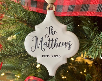Ornament Home Decor Wed Tree Decorations Wedding Gift First Married Christmas Personalized Couple Custom Christmas  Decorations