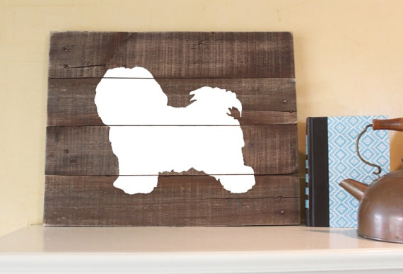 Havanese - Reclaimed Wood Sign, Wall Art, Gift, Hand-painted, Handcrafted,  Rustic, Memorial, I love Havanese, Decor,