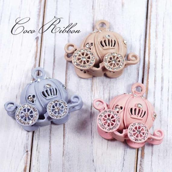 10pcs 21x20mm Rhinestone Flower Charms Beads DIY Belts Embellishments Crafts