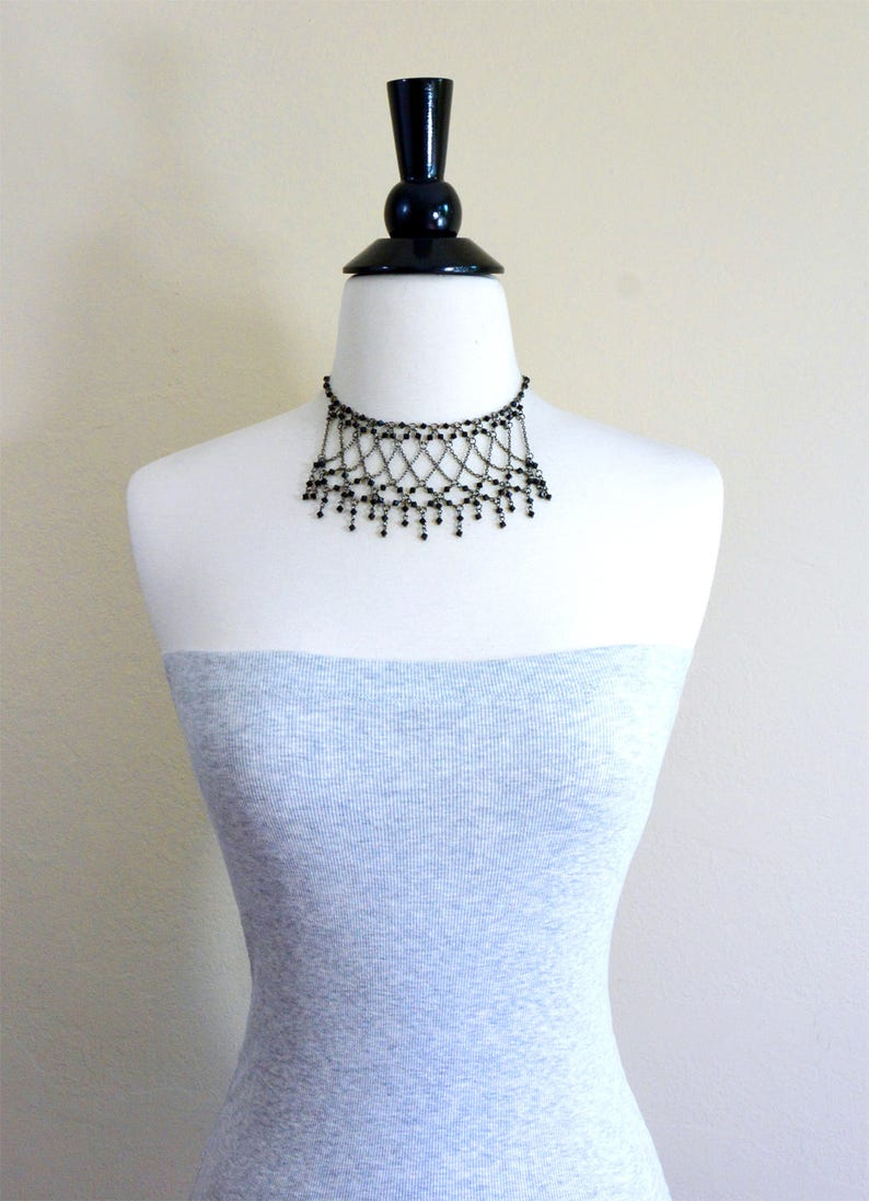 Bridesmaids necklace Beads necklace Ximena Choker Statement necklace Wedding necklace