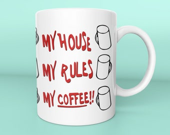 Knives Out Mug - My House, My Rules, My Coffee Mug - Movie Inspired Replica Gift