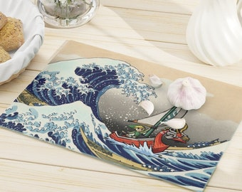 Legend of Zelda Cutting Board - Wind Waker The Great Wave of Kanagawa - Fandom Gift