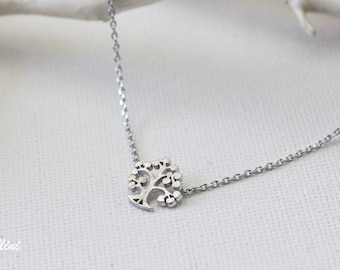 Magic Tree Necklace in Gold. Collar Bone Necklace. Garden. Botanical. Dainty and Subtle. Gift For Her (PNL-109)