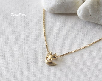 Fox Necklace in Gold/ Silver. Collarbone Necklace. Animal Necklace. Birthday Gift. Everyday Wear. Gift For Her (PNL-134)