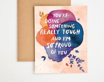 Proud of You Card, Encouragement Gift, Acknowledgement cards, You're Doing Great, Motivational Wall Decor, Card For Friend, Meera Lee Patel