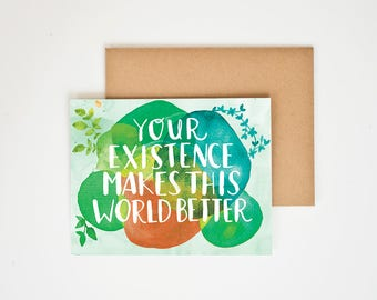 Birthday Card, Encouragement Gift, Nature Prints, I Love You, You Are My Person, One of A Kind, Gift for Men, Love, Meera Lee Patel
