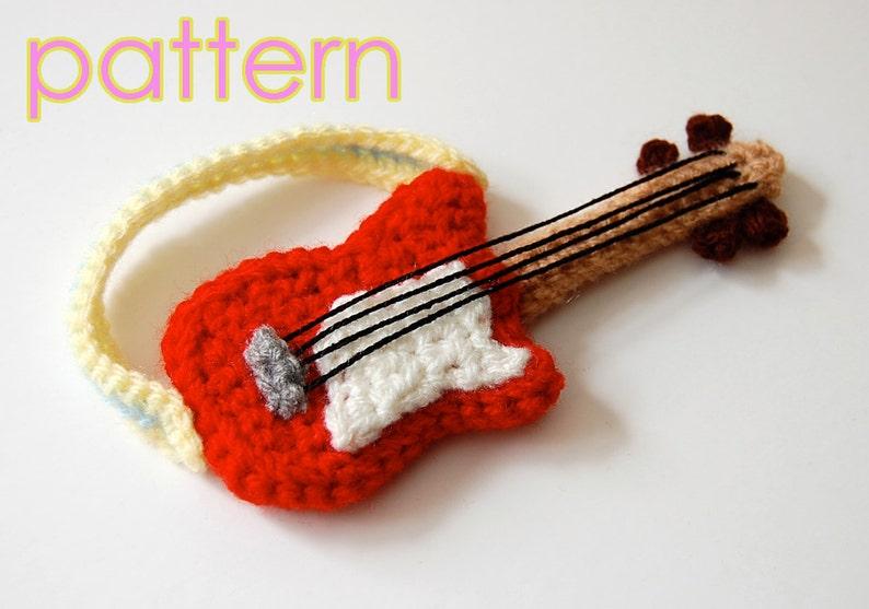 amigurumi pattern  guitar image 0