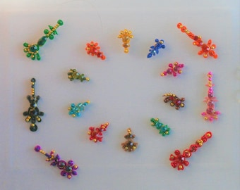 Bindi Self Adhesive India Bollywood Belly Dance Assorted Shape