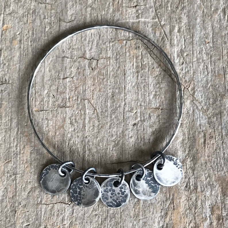 Moon and Back Charm Celestial Gifts Moon Jewelry Luna Crescent Moon Full Moon Moon Phase Bracelet Lune Sterling Silver Moon Phases
