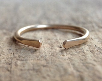 Gold Filled Ring, Open Ring Gold, Cuff Ring, Adjustable Rings For Women, Knuckle Ring, Stacking Rings Gold, 14K Gold Filled