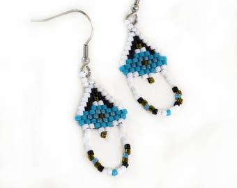 Small Native American Style Beaded Earrings
