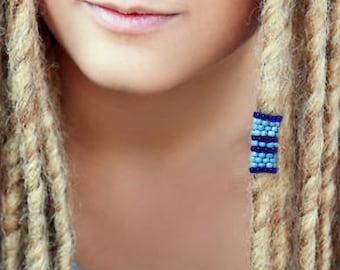 Dreadlock Bead - Blue - Dread Beads - Pick Your Size