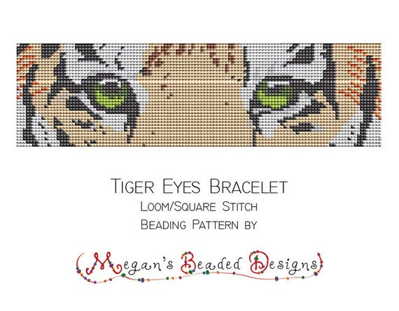 Metier A Tisser Perles Motif Tigre Yeux Bracelet Pour Metier A Etsy