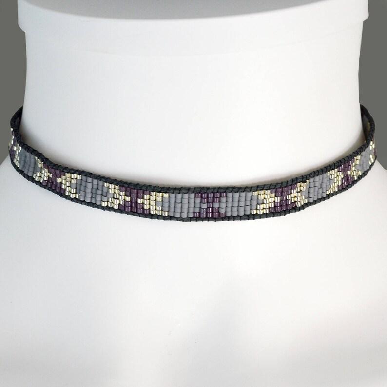 Purple Boho Choker Adjustable Boho Choker Collar