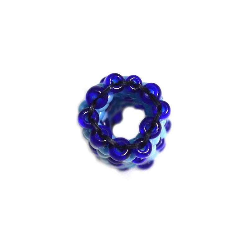 Blue Dreadlock Bead Dread Beads Pick Your Size