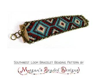 Repeatable Southwest Loom Bracelet Beading Pattern