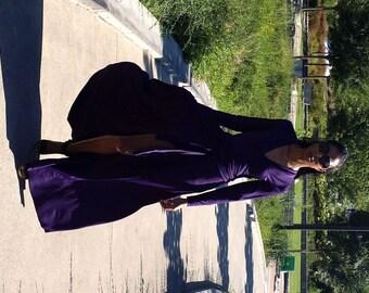 Maxi Wrap Dress Purple