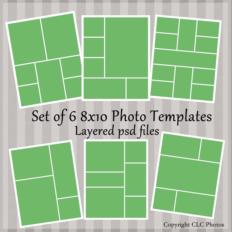 8 x 10 foto plantilla Collage historia Junta capas PSD