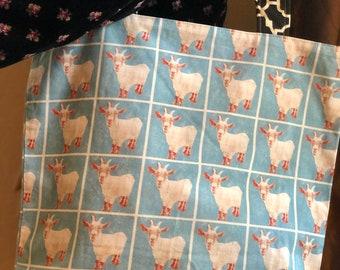 Goat Bag, Goat Tote, Farm, Animals, Billy Goat, Large Tote, Farm to Market, Market Bag