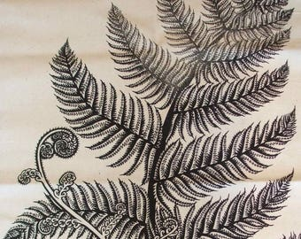 Punga fern tea towel