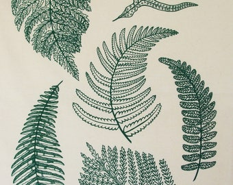 NZ Ferns Tea towel.