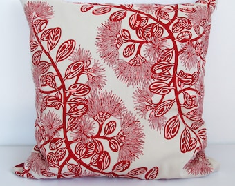 Pohutukawa Pattern Cushion cover.