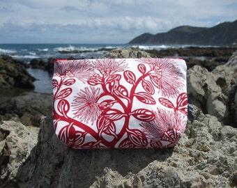 Pohutakawa make up purse
