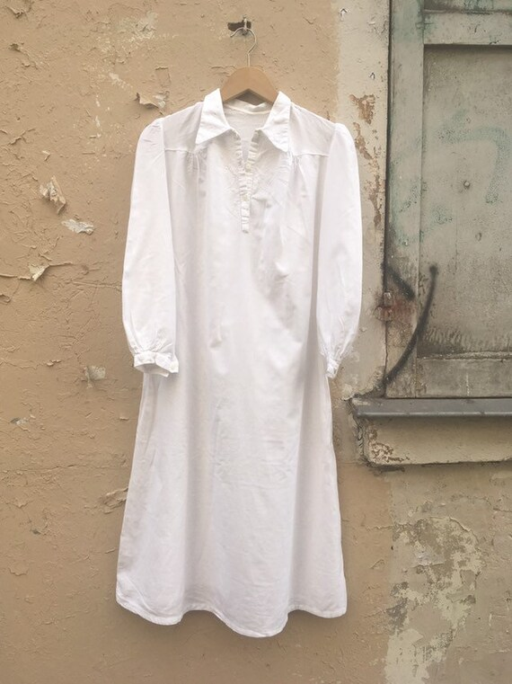 SALE - 20% Vintage Brushed Cotton night gown