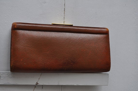 1950s leather clutch