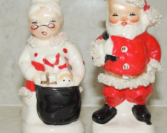 Vintage Napco Japan Reversible HappySad Clown Salt and Pepper Shakers
