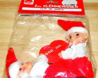 Denmark 2 Clip On Santas in the original package
