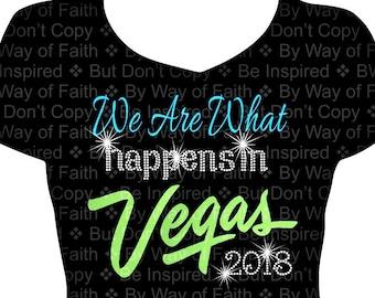ccdf315c6 We Are What Happens in Vegas Bling / Glitter Rhinestone Shirt, Gifts for  Her, Women Bling, Diva T-Shirt, Birthday Entourage, Custom Tee