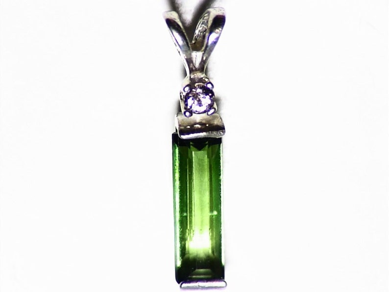 Pink Spinel Necklace in Sterling Silver Gift For Her Green Tourmaline Pendant Green Gemstone Charm 1.40 tctw Bicolor Tourmaline Jewelry