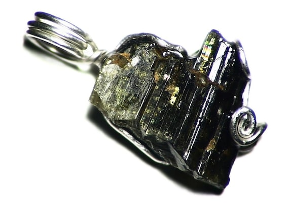 15.6 ct Gift For Him Chunky Mens Crystal Cluster Necklace Sterling Silver Brown Epidote Jewelry Golden Epidote Crystal Pendant Necklace
