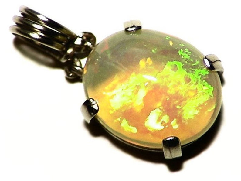 Ethiopian Opal Pendant in 14k White Gold 4.09 ct image 0