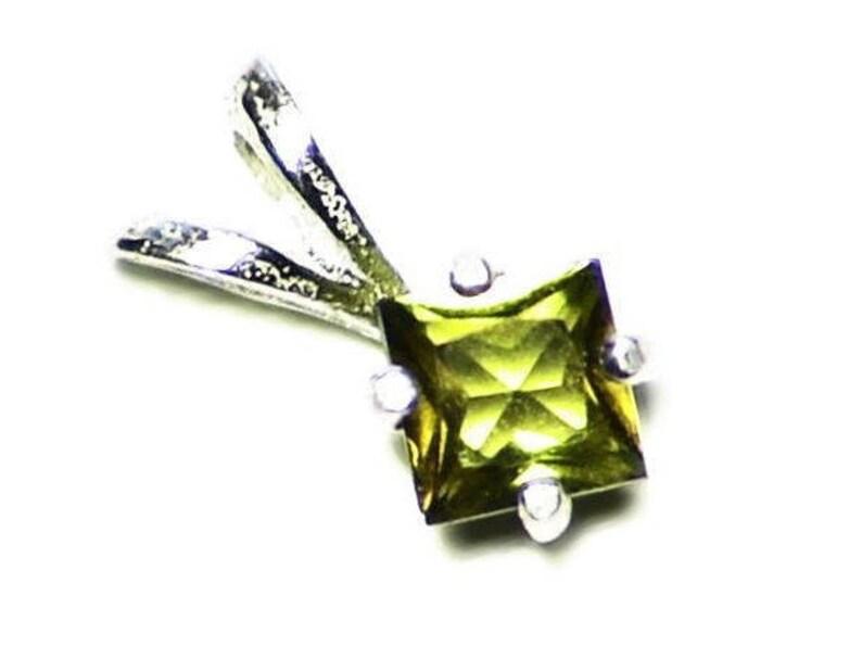 Yellow Tourmaline Pendant Small Tourmaline Necklace Tiny image 0