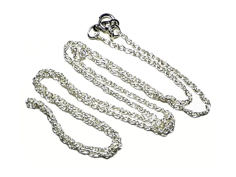 Silver Chain Rope Necklace 18 Inch Sterling Chain Silver image 0