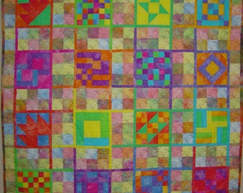 Wall Art Quilt - Unititled, Hand-Dyed