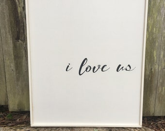 Rustic I Love Us Etsy