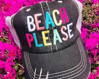 e21bed99ffc Ladies distressed trucker hat cap beach please beach life lake please lake  life monogrammed hat monogrammed trucker