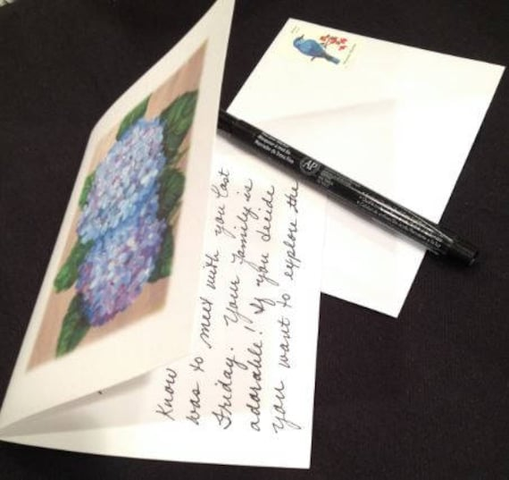 Handwriting Services With Original Art Cards