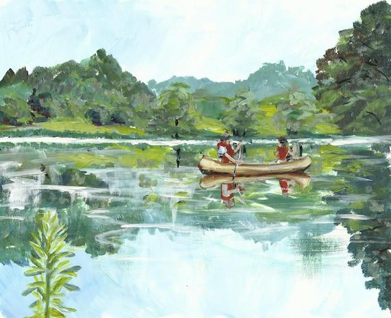 "Potomac Canoe Print 8.5"" x 11"""