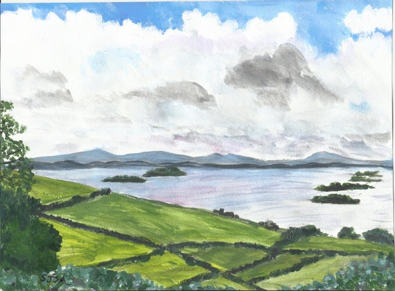 Original Painting: Road To Inish Bofin. Daily Sketch#3