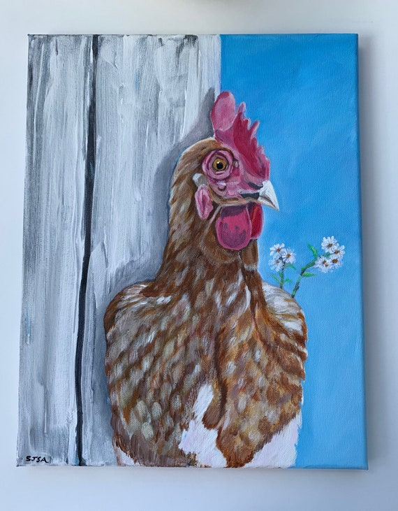 "Original 11""x14"" Art-Henrietta Needs A Home"