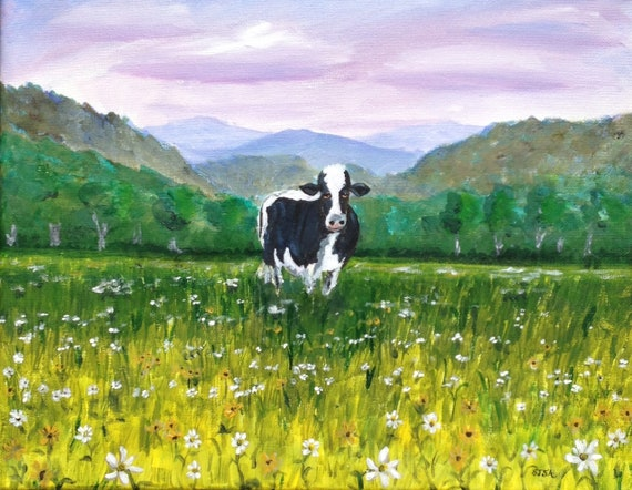 Daisy Cow 11x14 Original Painting