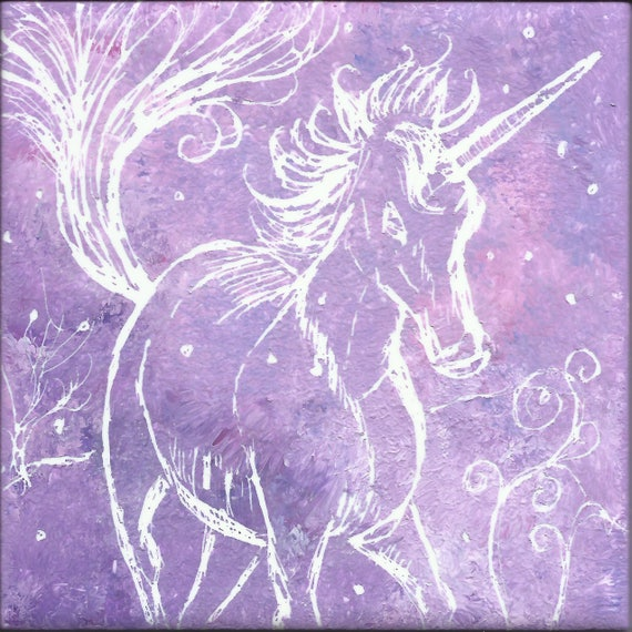 Unicorn Etched Tile#1