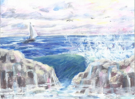 Daily Sketch#1: Seascape1